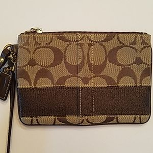 Authentic Signature Coach wristlet